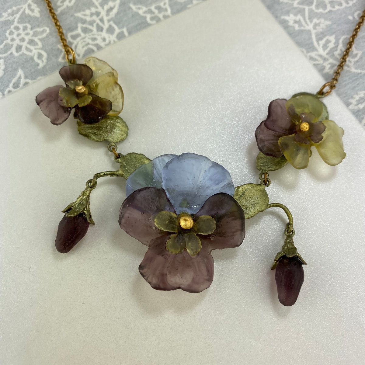 Pansies Statement Necklace