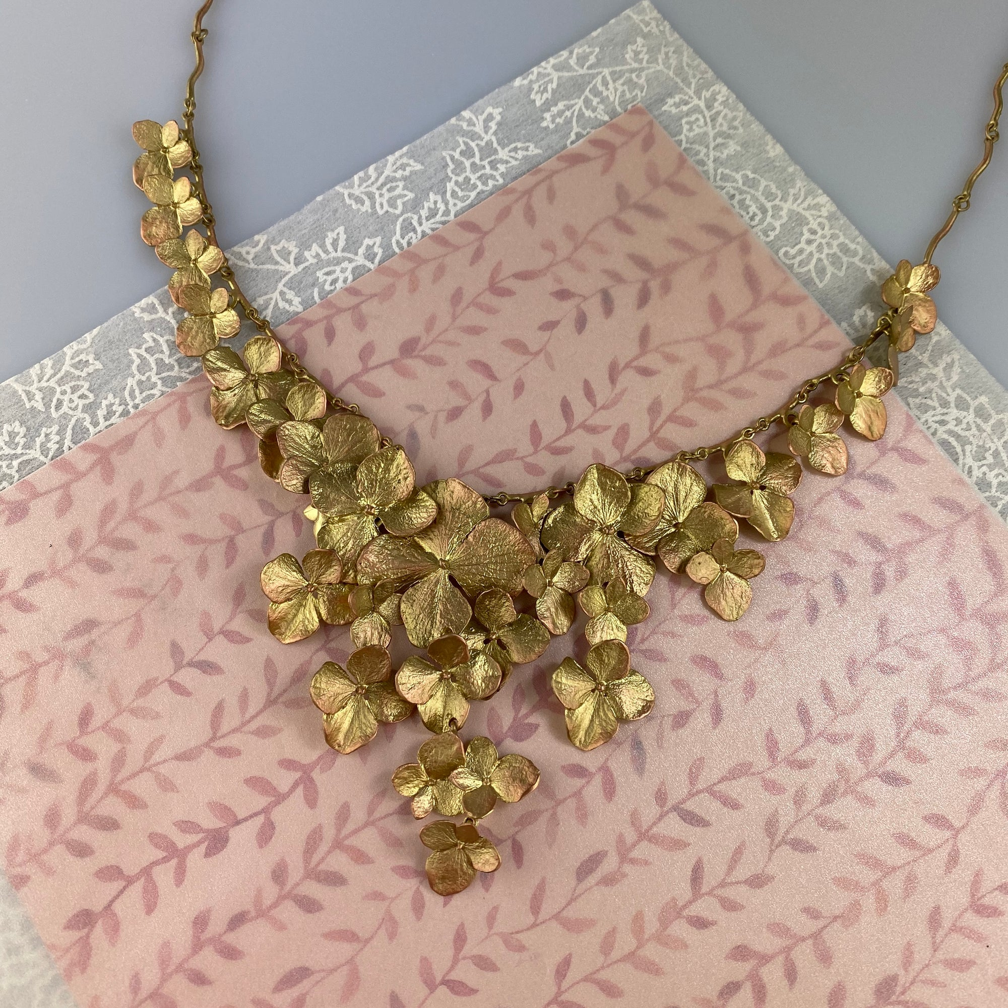 Hydrangea Full Petals Necklace - Heart of the Home PA