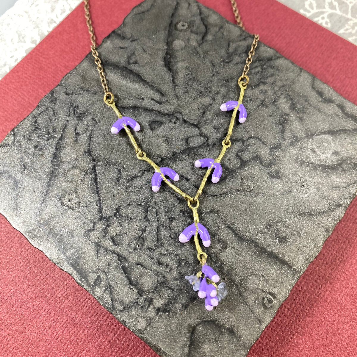 Lavender Shower Necklace - Heart of the Home PA