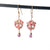 Pink Moonstone Honeycomb Earrings - Heart of the Home PA