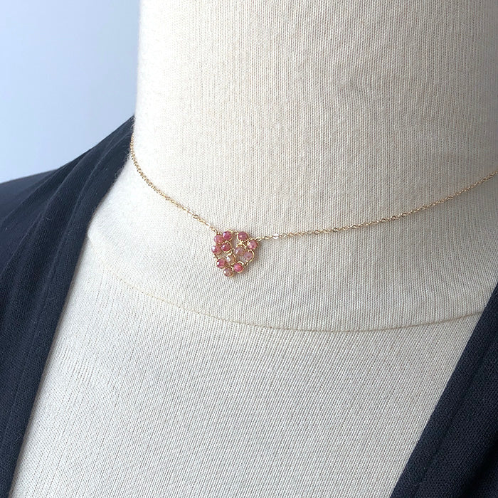 Pink Moonstone Honeycomb Necklace - Heart of the Home PA