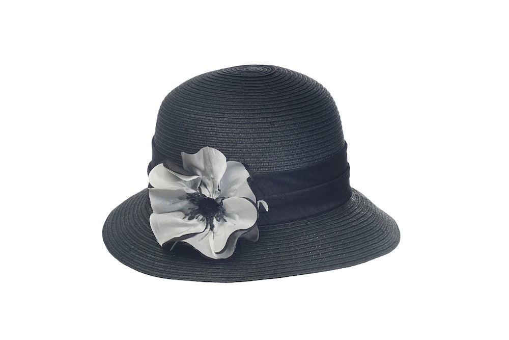 Poppy Cloche in Black - Heart of the Home PA
