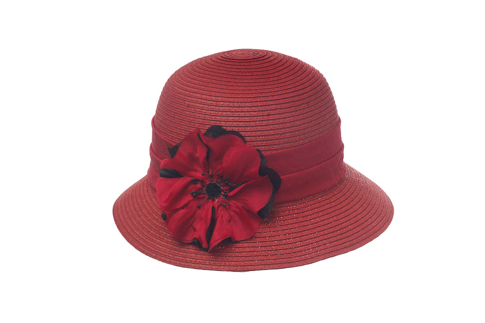 Poppy Cloche in Red - Heart of the Home PA