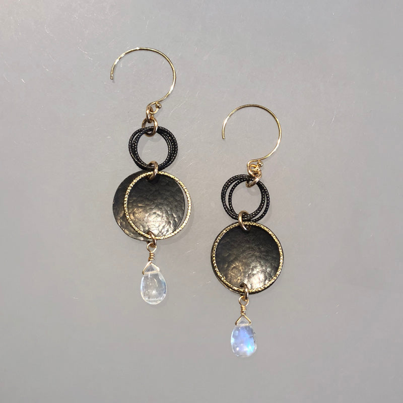 Ring and Dish Moonstone Earrings - Heart of the Home PA