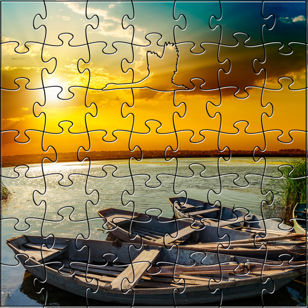 River Sunset Zen Puzzle - Heart of the Home PA