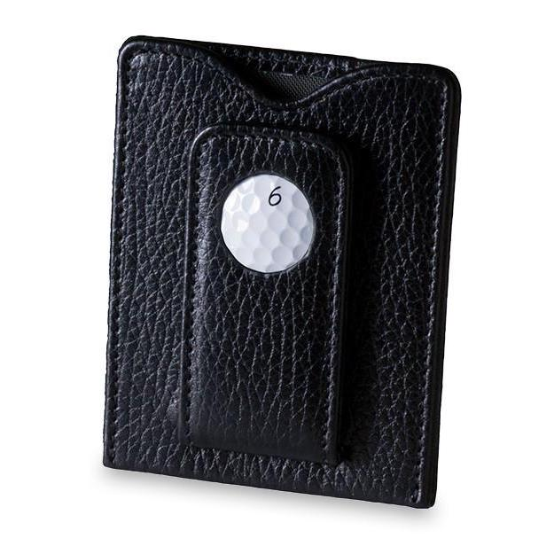 TPC Sawgrass Golf Ball Money Clip Wallet in Black - Heart of the Home PA