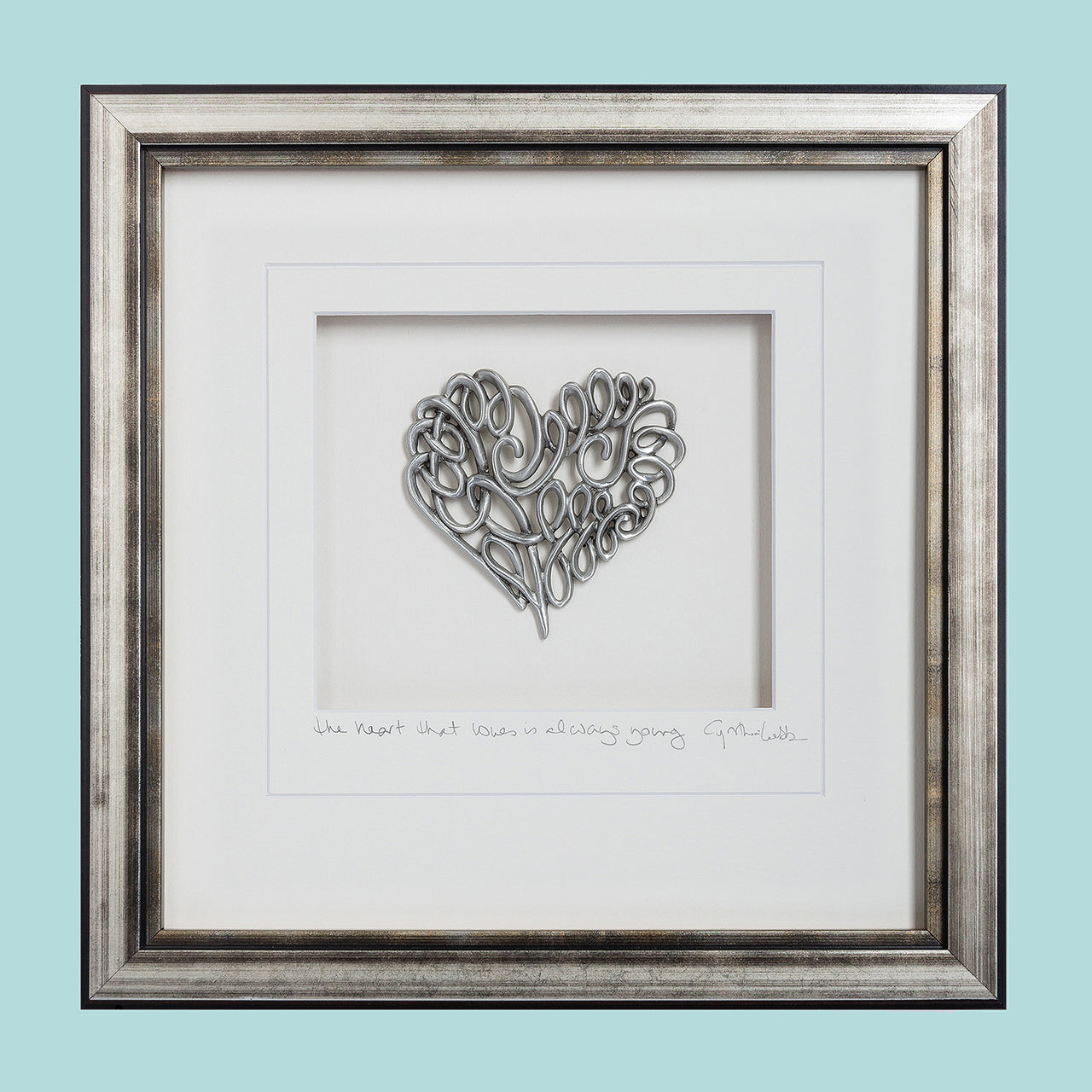 Scroll Heart Framed Wall Art - Heart of the Home PA