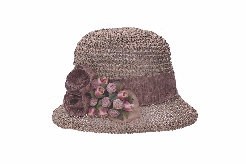 Seagrass Cloche with Rosebuds - Heart of the Home PA