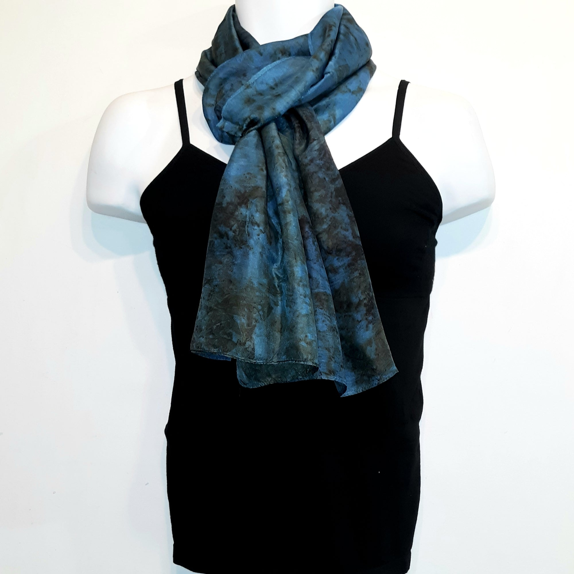 Vintage Silk Scarf Indigo - Heart of the Home PA