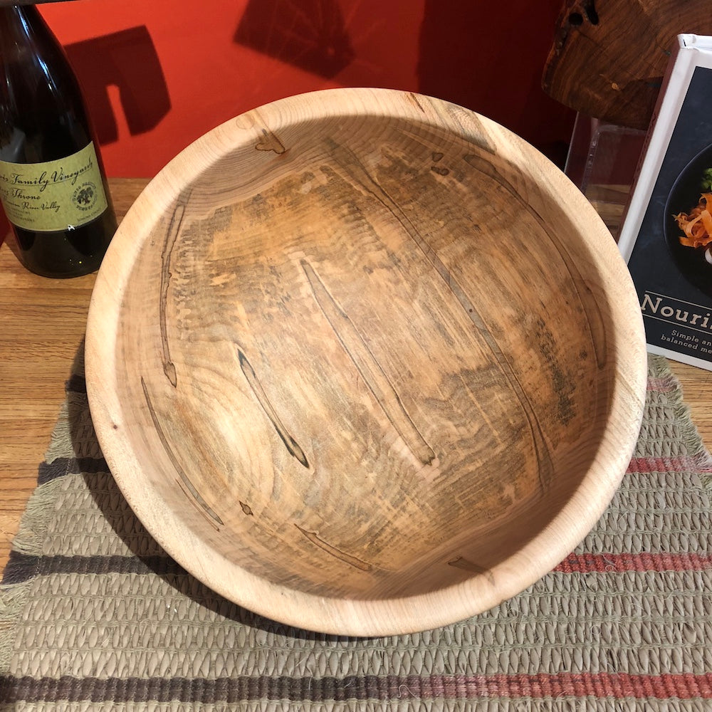 Slightly Small Traditional Maple Bowl - Heart of the Home PA