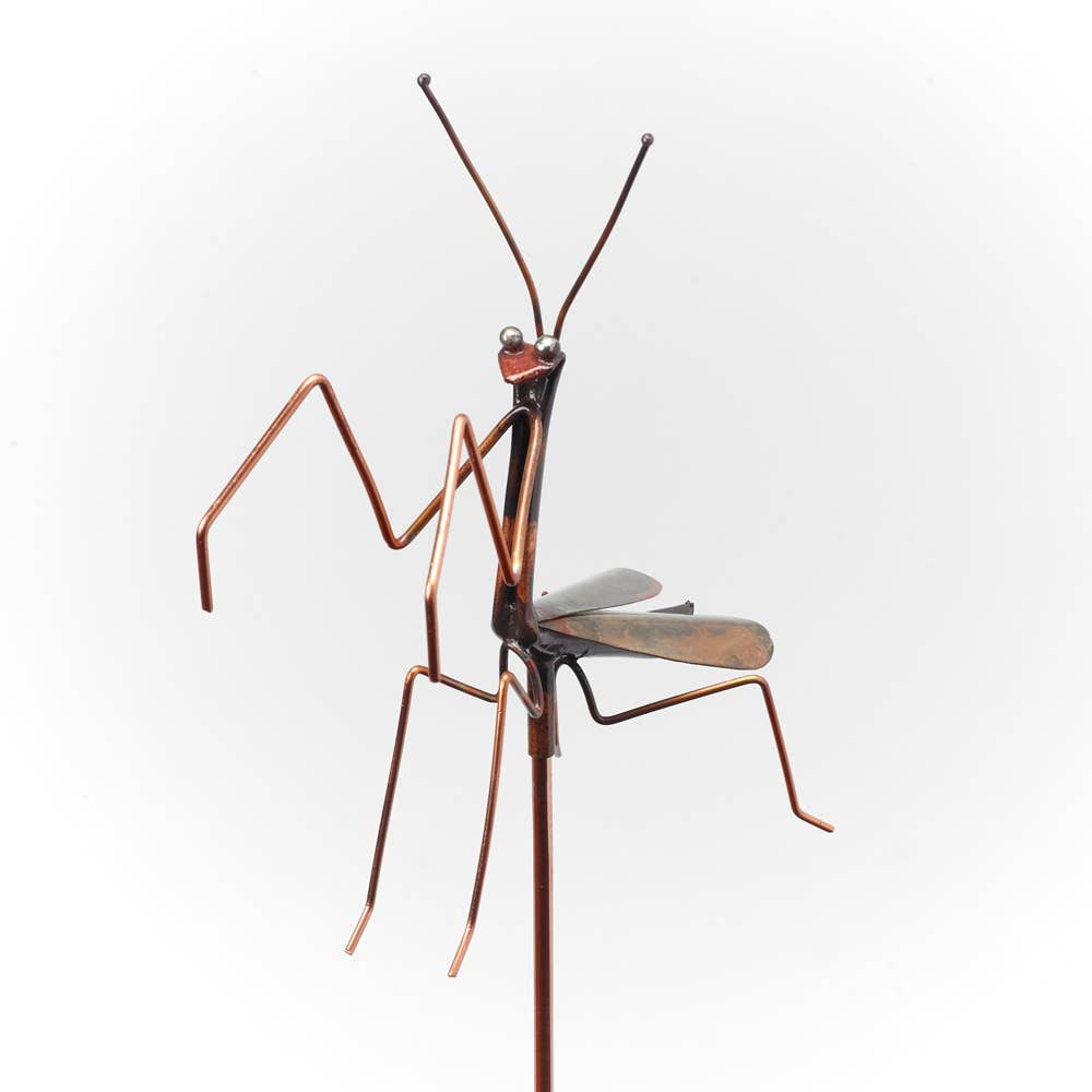 Small Praying Mantis Garden Stake - Heart of the Home PA