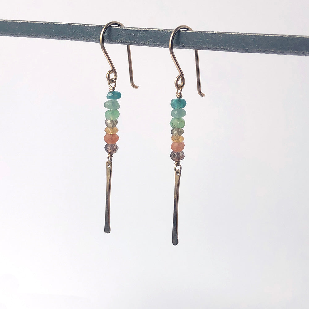 Stack and Stick Earrings in Cove - Heart of the Home PA