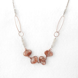 Sunstone Link Necklace