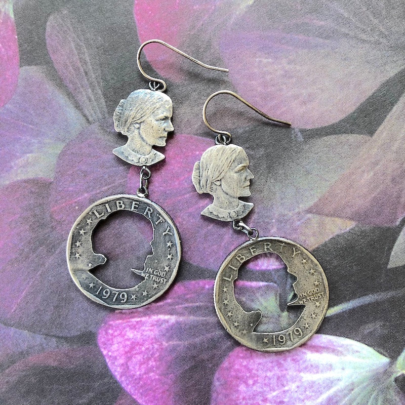 Susan B. Anthony M.I.A. Earrings - Heart of the Home PA