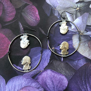 Swinging George Hoop Earrings