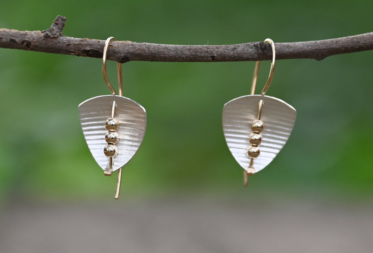 Triangle and Bead Earrings - Heart of the Home PA