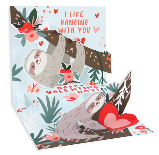 Valentine Sloths Pop-Up Card - Heart of the Home PA