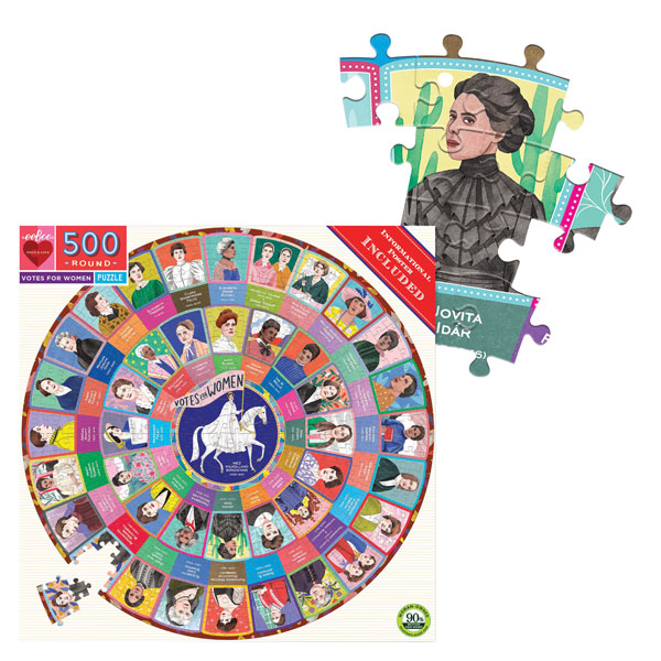 Votes for Women 500 Piece Round Puzzle - Heart of the Home PA