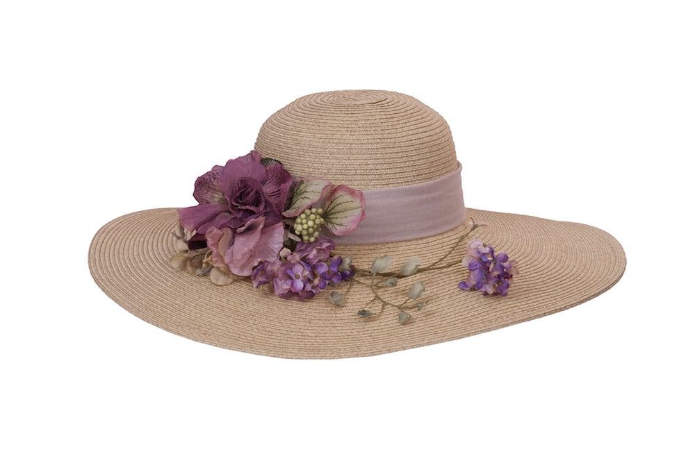 Wild Bouquet Wide Brim Sun Hat - Heart of the Home PA
