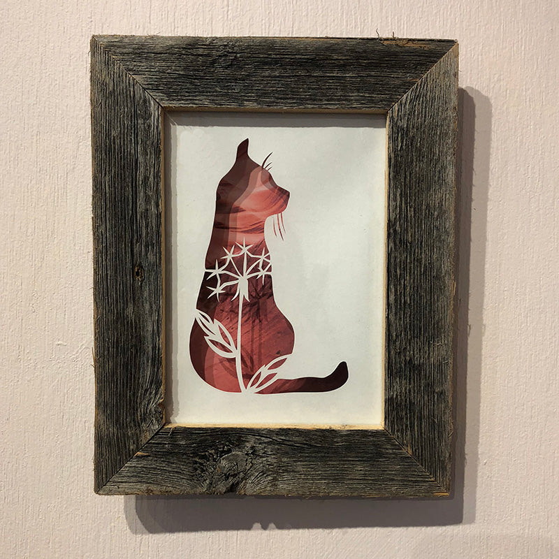 Wishy Cat Barnwood Frame - Heart of the Home PA