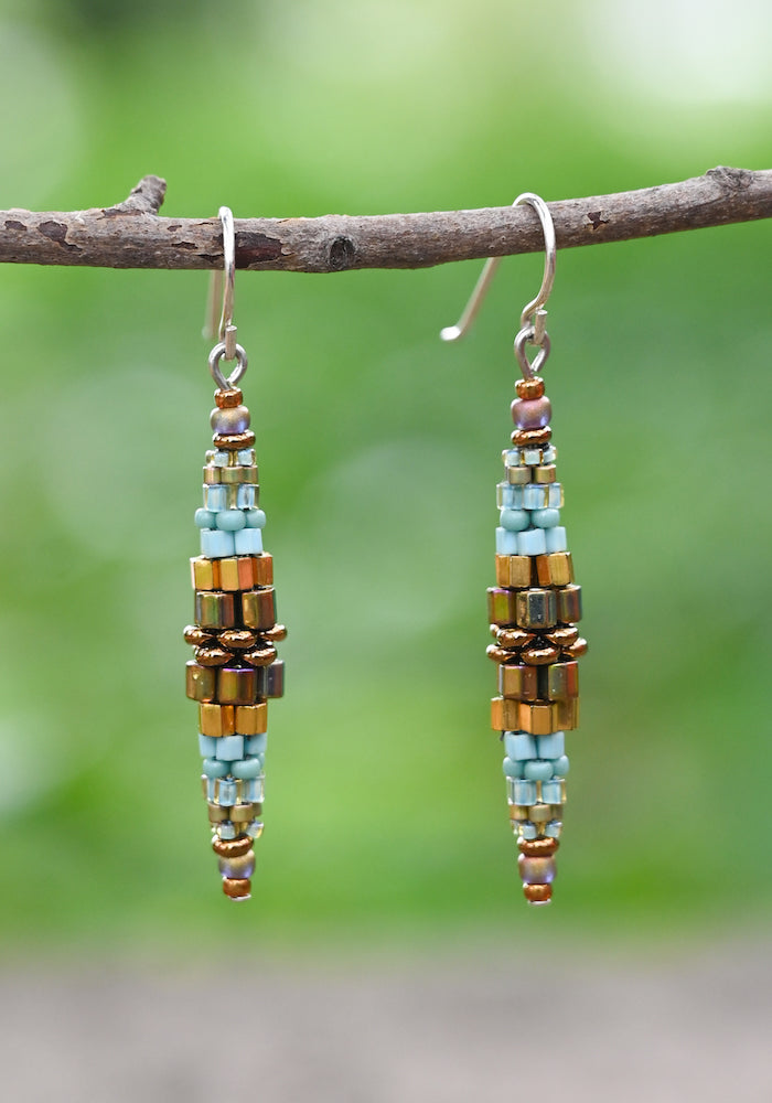 Woven Barrel Earrings - Heart of the Home PA