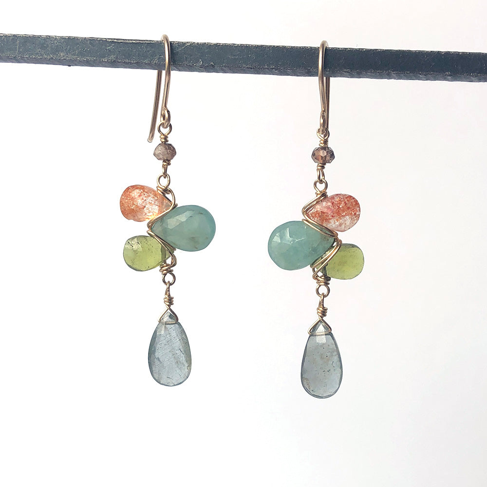 Woven Earrings in Cove - Heart of the Home PA