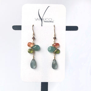 Woven Earrings in Cove