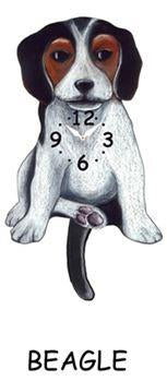Beagle Wagging Dog Clock - Heart of the Home PA