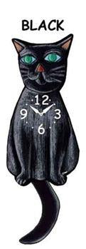 Black Wagging Cat Clock - Heart of the Home PA