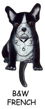 Frenchie Wagging Dog Clock - Heart of the Home PA