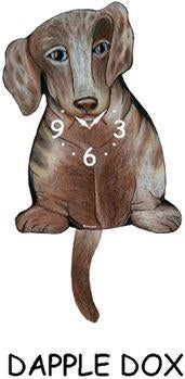 Dachshund Wagging Dog Clock - Heart of the Home PA