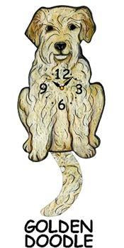 Goldendoodle Wagging Dog Clock - Heart of the Home PA