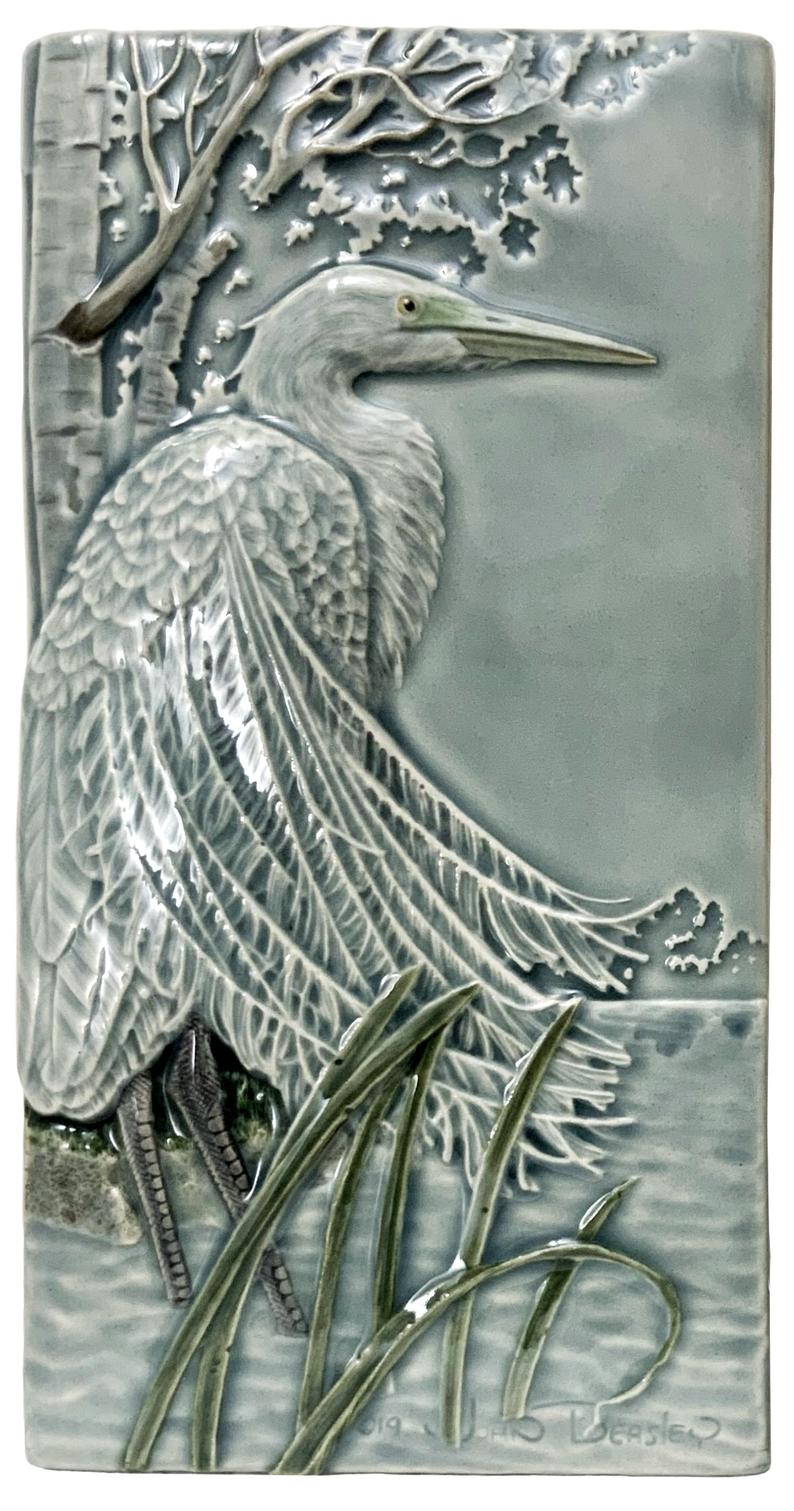 Great Egret Ceramic Tile - Heart of the Home PA