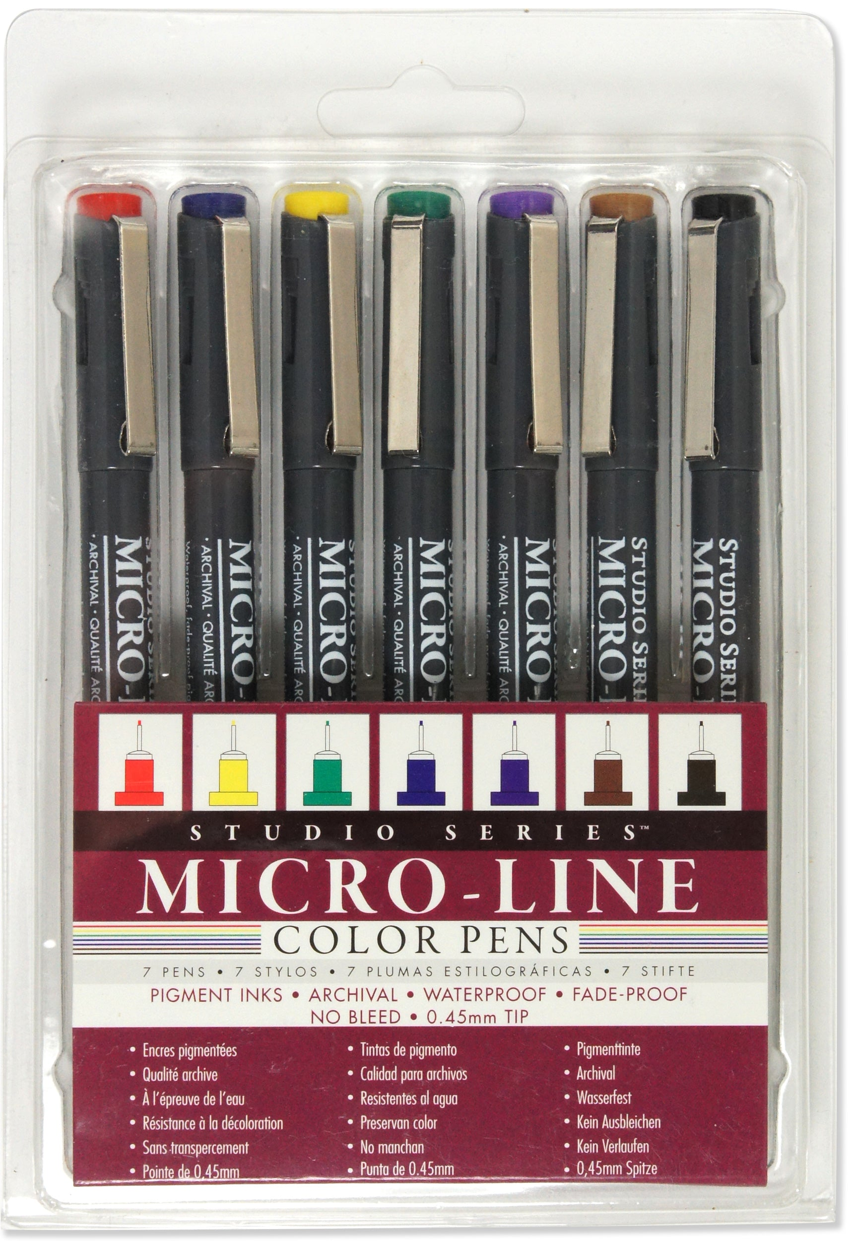 Studio Series Colored Micro-Line Pens (Set of 7) - Heart of the Home PA