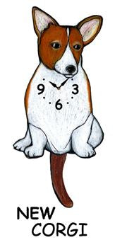 Corgi Wagging Dog Clock - Heart of the Home PA