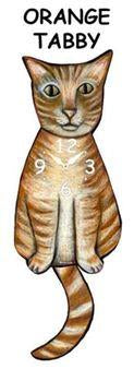Orange Tabby Wagging Cat Clock - Heart of the Home PA