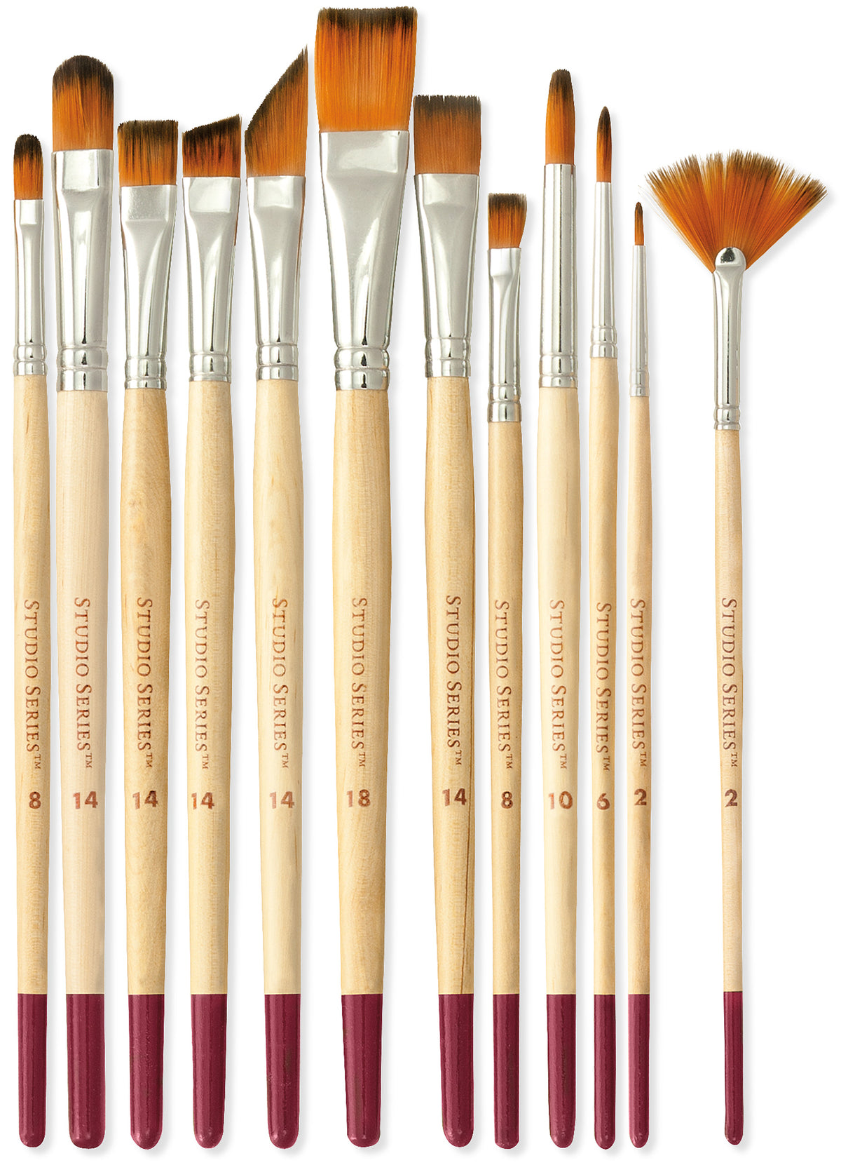 Studio Paintbrush Set (12 Brushes)