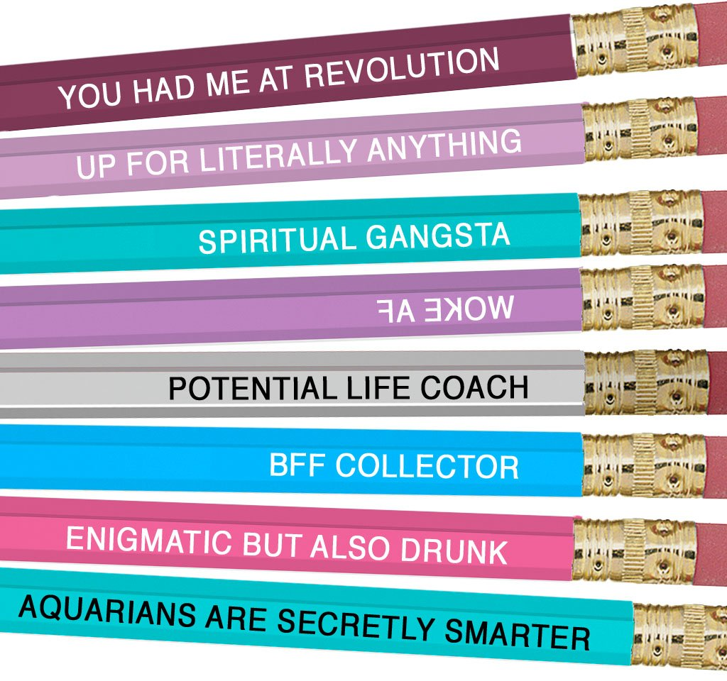 Astrology Pencils Aquarius - Heart of the Home PA