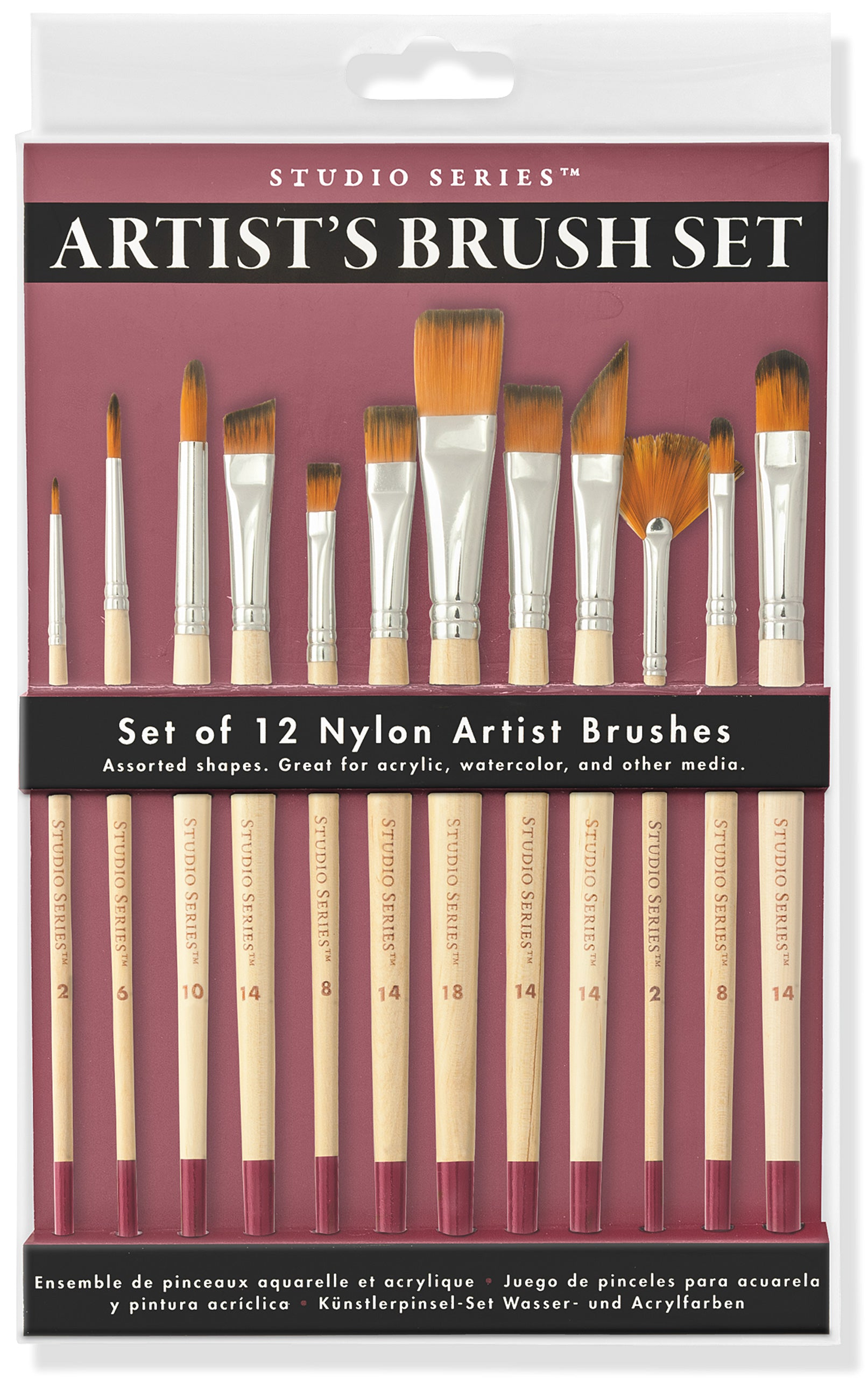Studio Paintbrush Set (12 Brushes) - Heart of the Home PA