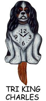 King Charles Wagging Dog Clock - Heart of the Home PA