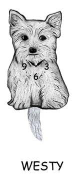 Westie Wagging Dog Clock - Heart of the Home PA