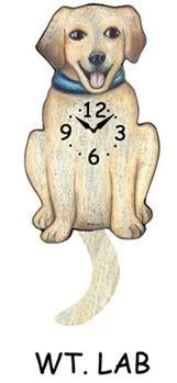 Labrador Wagging Dog Clock - Heart of the Home PA