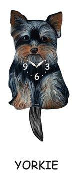 Yorkie Wagging Dog Clock - Heart of the Home PA