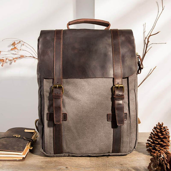 Large capacity retro canvas travel backpack