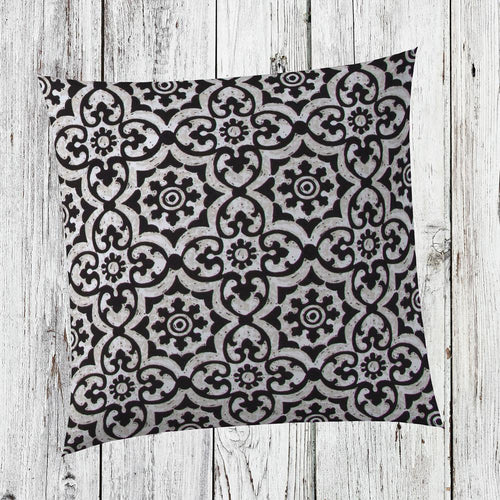 Barcelona Square Outdoor Throw Pillow