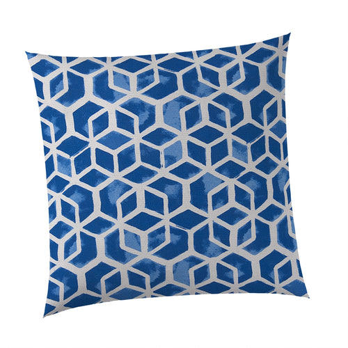 Cubed Square Outdoor Throw Pillow