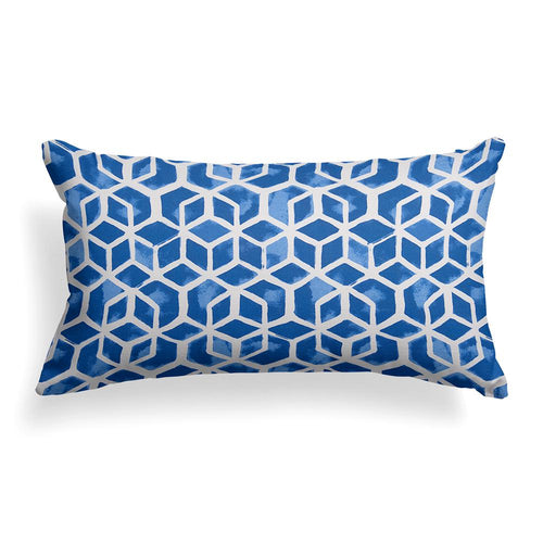 Cubed Lumbar Outdoor Throw Pillow