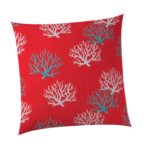 Reef Coral Square Outdoor Throw Pillow
