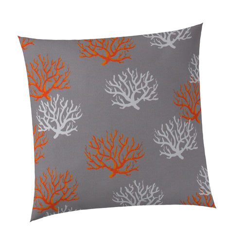 Reef Grey Square Outdoor Throw Pillow