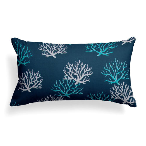 Reef Royal Lumbar Outdoor Throw Pillow